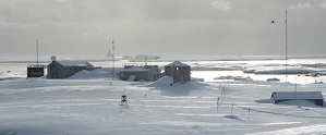 Research station in antartica